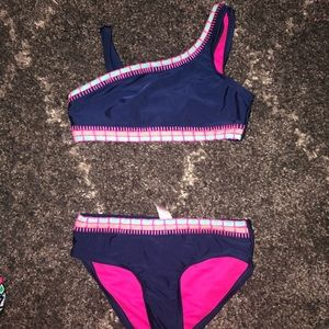 Asymmetrical LIKE NEW justice bathing suit